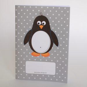 notizheft-pinguin-grau-punkte-liniert-dowo-design-din-a-6