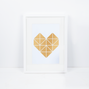 poster-origami-herz-gold