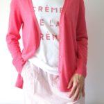 strickjacke-pink-sommer-tshirt-rock-streifen-redraft