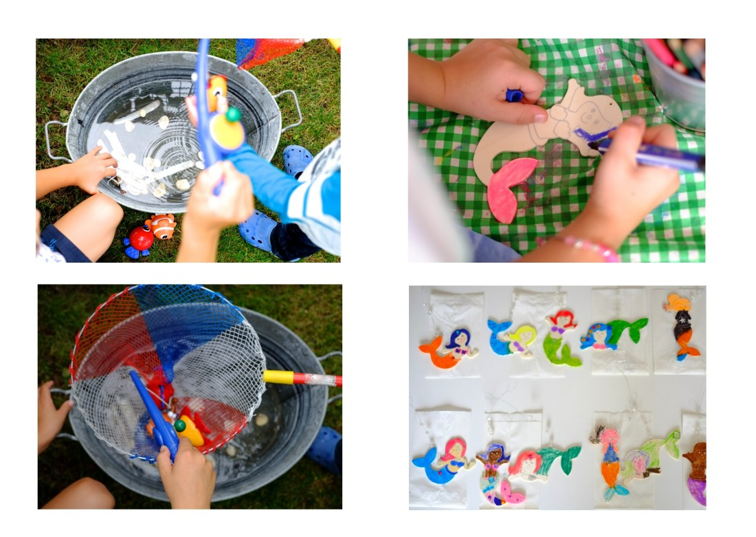 kindergeburtstag-meerjungfrau-spielen-basteln