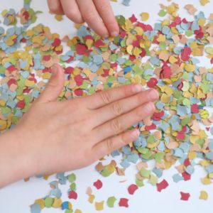 konfetti-kunstwerk