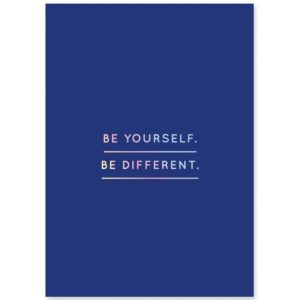 be-yourself-postkarte-navucko