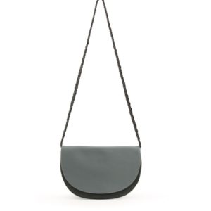 soma-half-moon-bag-dusty green + pine green