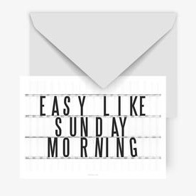 typealive-postkarte-easy-like-sunday-morning