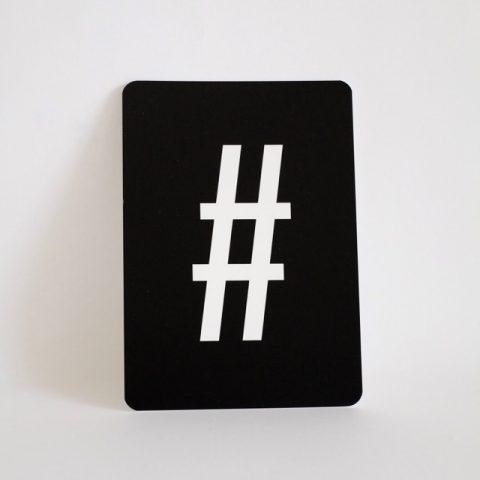 buchstaben-karte-buchstabe-hashtag-typo-herrundfraukrauss-onlineshop