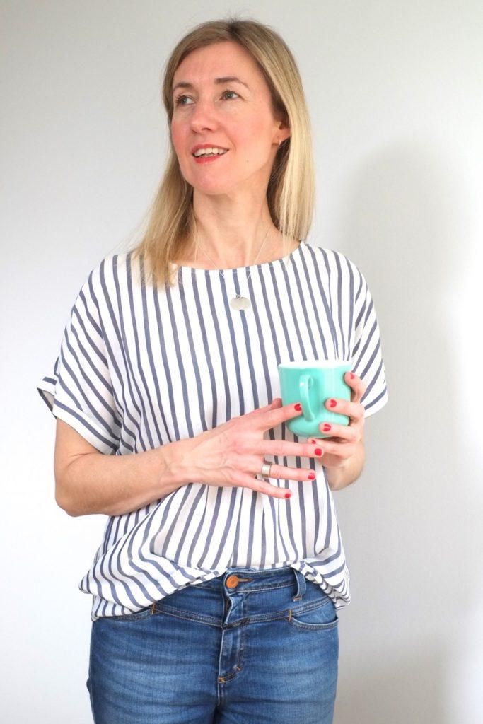 bluse-streifen-kurzarm-blau-weiss-redraft-herrundfraukrauss-onlineshop-blog-blogger-zwei