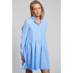 kleid-sommer-blau-weiss-kariert-noella-herrundfraukrauss-onlineshop