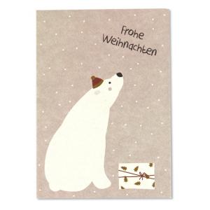 postkarte-weihnachten-eisbär-ava-und-yves-herrundfraukrauss-onlineshop