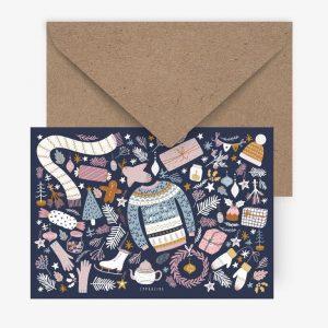 postkarte-weihnachtskarte-cozy-time-blau-typealive-herrundfraukrauss-onlineshop