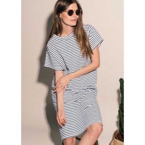 gestreiftes-t-shirt-kleid-sommerkleid-weiss-blau-noella-herrundfraukrauss-onlineshop-zwei